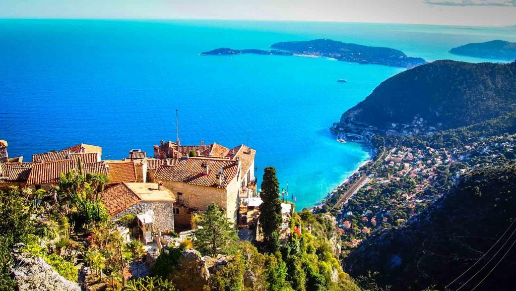Eze, a charming hilltop town on the Cote d'Azur.