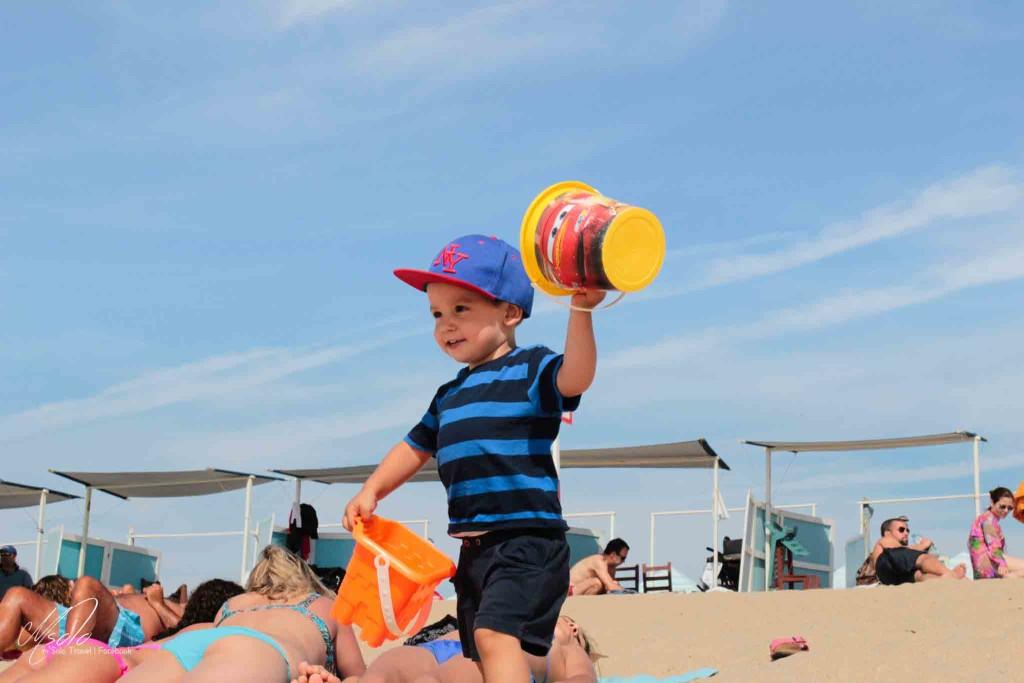 Lovely boy on Miramar Beach