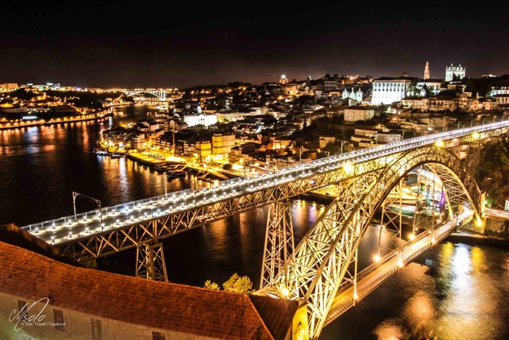 Night Scene Of Porto With Douro River