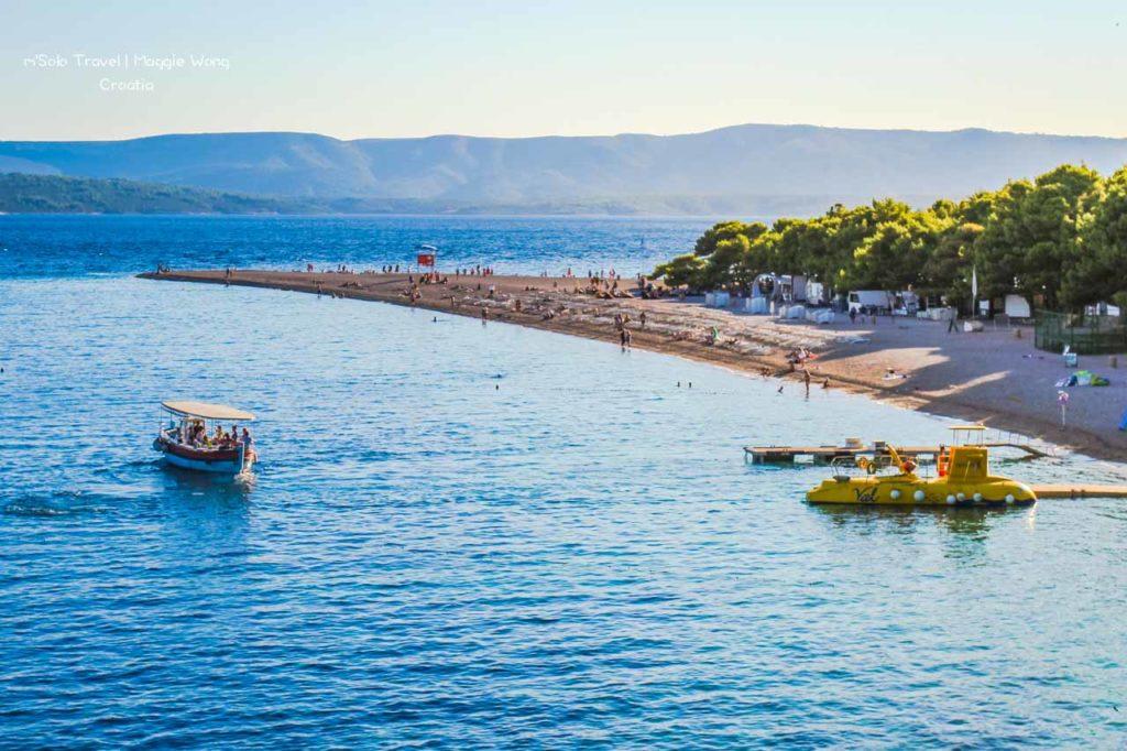 Croatia, a traingle beach Zlatni Rat @Bol
